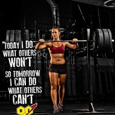 Camille is awesome. I must conquer my obsession with the number on the scale and focus on strength and the way I feel.