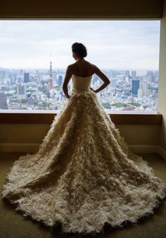 Romona Keveza wedding gown, photo by 37 Frames Photography | via junebugweddings.com