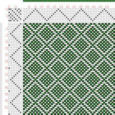 draft image: Page Figure Donat, Franz Large Book of Textile Patterns… Weaving Designs, Weaving Projects, Weaving Patterns, Textile Patterns, Knitting Patterns, Inkle Weaving, Hand Weaving, Weaving Textiles, Tear
