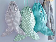 Eine Fisch - Tasche selber nähen: Anleitung