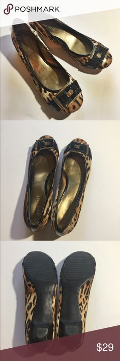 NINE WEST Cheetah Print, Calf Hair Flats Adorable pair of Cheetah flats, used a few times, excellent preowned condition, looks almost like new. Fabric: Cow leather upper, real fur Nine West Shoes Flats & Loafers