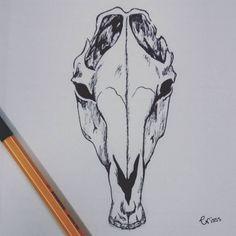 #draw_art #drawing #draw #drawingart #illustration #love #design #illustrator… Horse Face Drawing, Drawing Base, Skull Anatomy, Horse Anatomy, Horse Skull, Autumn Tattoo, Skull Sketch, Skull Sleeve, Horse Sketch