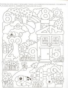 Crafts,Actvities and Worksheets for Preschool,Toddler and Kindergarten.Free printables and activity pages for free.Lots of worksheets and coloring pages. Numbers Preschool, Math Numbers, Preschool Worksheets, Preschool Learning, Kindergarten Math, Teaching Math, Preschool Activities, Numbers For Kids, Math For Kids