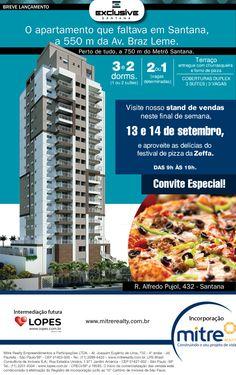 EXCLUSIVEO que: Lançamento Exclusive Santana Quando: 13 e 14 de Setembto Horário: 09h às 19h Onde: Alfredo Pujol 432 – Santana  Leia mais http://blog.lopes.com.br/mercado-imobiliario/eventos-mercado-imobiliario/eventos-lopes-que-acontecem-neste-final-de-semana-em-sp/#ixzz3DCKHLNTe  Under Creative Commons License: Attribution Share Alike  Follow us: @lopes_imoveis on Twitter | imobiliaria.lopes on Facebook SANTANA