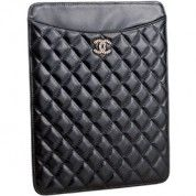Chanel Quilted Leather Ipad Case Black $144
