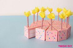 Papierowy tort / Cake box - tutorial twojediy.pl