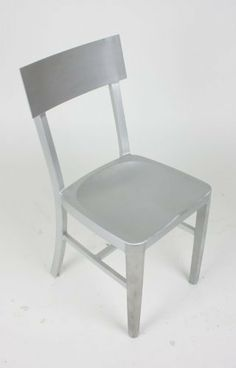Modern Cafe Dining Chair in Brushed Aluminum by Manhattan Modern, http://www.amazon.com/dp/B00756LG14/ref=cm_sw_r_pi_dp_ayFOrb1ED35FG $100