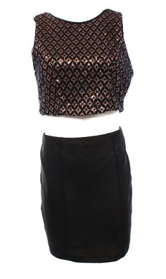 Emerald Sundae NEW Black Size 9 Juniors Sequin Cutout Sheath Dress $56