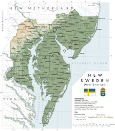 The Territory of New Sweden - imaginarymaps Swedish Navy, Dutch Republic, Imaginary Maps, Thirty Years' War, Fantasy Map, Alternate History, Sense Of Place, Old Maps, American Country