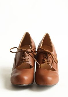 Tyra Cognac Oxford Pumps By Chelsea Crew $64.99 - perfect with tights & a dress.