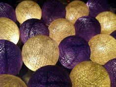 Purple and white mix color string light cotton ball garland lantern patio New string light 3 meters long with 20 balls. The Balls are hand made made from cotton. It is suitable for use for both indoor and outdoor. Daisy Wedding, Light Garland, String Lights, Ball Lights, All Things Purple, Cotton Lights, Color Mixing, Lanterns, Patio