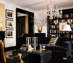 Ralph Lauren's home line One Fifth is absolutely stunning with all it's black and gold