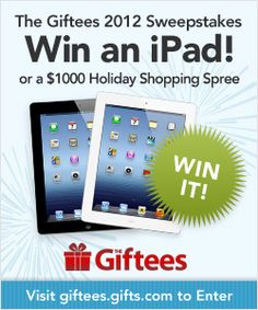 I nominated a gift idea for a 2012 Giftee Award. Nominate your favorite gifts and enter for a chance to win a one thousand dollar gift shopping spree and other great prizes.