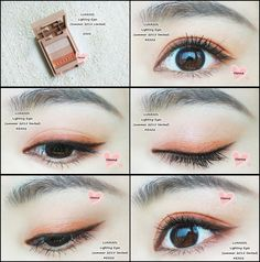 LUNASOL Lighting Eyes (summer 2015 limited): EX02 (OR) (with MissHana eyeliner in brown)
