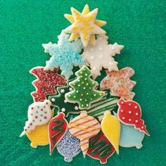 Decorated Christmas Cutout Cookies Recipe -Rich, buttery cookies like these never last long at a party. I use seasonal cutters to celebrate the holidays tastefully. —Lynn Burgess, Rolla, Missouri