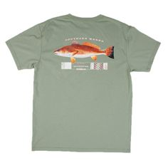 Southern Marsh Outfitter Redfish T-Shirt in Bay Green