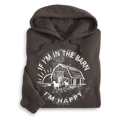 Happy Life Hoodie - Horse Themed Gifts, Clothing, Jewelry and Accessories all for Horse Lovers | Back In The Saddle