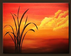 Sunset Acrylic Painting Easy