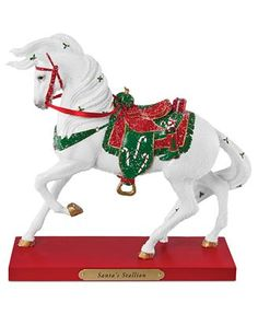 trail of painted ponies figurines | Trail of Painted Ponies Collectible Figurine, Santa's Stallion