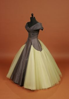"""mytippetonlytulle:    Ball gown, American, c.1955; Marguery Bolhagen in the style of Charles James. Silk taffeta; tulle, bobbinette (a stiff cotton), nylon.  """"Mrs. Bolhagen's daughter wore it to her high school prom in 1960."""" LUCKY BITCH."""