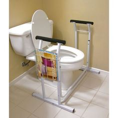 Jobar International Deluxe Toilet Safety Support - - All Bath Safety - Bathroom Fixtures - Bed & Bath Handicap Bathroom, Bathroom Toilets, Bathroom Fixtures, Bathroom Seat, Washroom, Handicap Accessible Home, Bathroom Safety, Adaptive Equipment, Medical Equipment