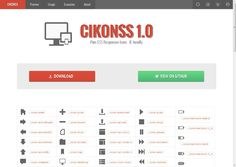 Cikonss | Pure CSS Responsive Icons