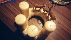 Gemütshandwerk: DIY Adventkranz schick in Strick ... tutorial: Knitted Advent wreath