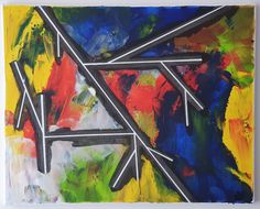 """""""Wege"""" Painting, Things To Do, Abstract, Canvas, Painting Art, Creative, Dekoration, Kunst, Paintings"""