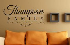 "Wonderful Established Family Name Home Wall Decor Decals. Perfect for the family room! ""Thompson Family"" by Jetmak Designs"