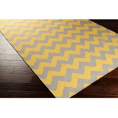 Hand-woven Mustard Chevron Yellow Wool Rug (5' x 8') | Overstock.com Shopping - The Best Deals on 5x8 - 6x9 Rugs