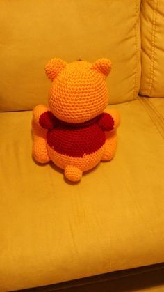 Amigurumi crochet winnie the pooh free pattern. You can find free recipes and images of many amigurumi knitting toy models on our website. Winnie Poo, Winnie The Pooh, Crochet Cross, Free Crochet, Minion Crochet Patterns, Pooh Bear, Amigurumi Doll, Creative Crafts, Free Pattern