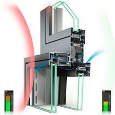 HUECK Lambda SA (silent air) - Schalldämmung von 26 bis 39 dB, durch unterschiedliche Kombination der Schallschutz-Systemkomponenten sind verschiedene Ansprüche an Schalldämmung, Wirtschaftlichkeit und die mögliche Weite der Kippstellung realisierbar
