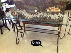 Iron and glass sofa table.  Seamless versatile design.    Yesterdays Treasures Consignment  1185 Second Street Suite H  Brentwood, CA 94513  925.516.8549  www.Yesterdayststore.com  Info@yesterdayststore.com