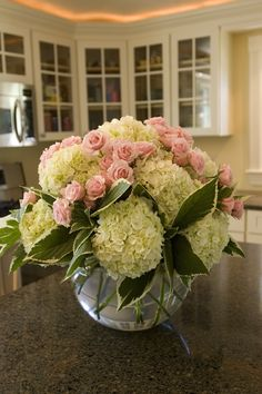 Pink roses pair beautifully with fresh cut Blushing Bride blooms. Blushing Bride Hydrangea, Hydrangea Care, Summer Plants, Small Gardens, Dream Garden, Container Gardening, Indoor Plants, Pink Roses, Beautiful Flowers