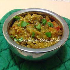 Allspice: Baingan Choka-Spiced & Mashed Roasted Brinjals/Egg...
