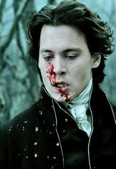 Johnny Depp as Ichabod Crane in Tim Burton's Sleepy Hollow.