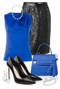 Fantastic Blue by explorer-14541556185 on Polyvore featuring Armani Jeans, Burberry, Alexander McQueen, ESCADA and Lauren Ralph Lauren