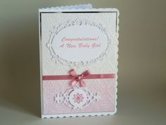 Embossed Congratulations on the Birth of by LornaFineCustomCards
