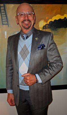 Ralph Lauren jacket, Nordstrom shirt, Perry Ellis sweater, Nautica tie Sharp Dressed Man, Well Dressed Men, Ralph Lauren Jackets, Perry Ellis, Haberdashery, Every Girl, Gentleman, Your Style, Personal Style