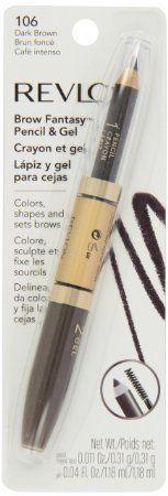 Amazon.com : Revlon Brow Fantasy, Pencil and Gel, brunette, 0.04 Ounce : Eyebrow Makeup : Beauty