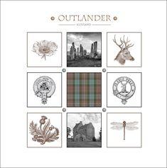 Outlander-inspired stationery greeting card, Clan Fraser Mackenzie Lallybroch Calanais Jacobite tartan Made in Scotland. Outlander Wedding, Outlander Novel, Tartan, Celtic Signs, Dolly Parton Quotes, Wood Carving For Beginners, Scotland, Novels, Scottish Gaelic