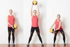 14 Unique Medicine Ball Exercises to Work Your Body and Core: Medicine Ball Circle Squat