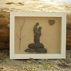 By Salt and Pebbles. And baby makes three. www.saltandpebbles.com  #pebbleart