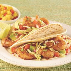 Zesty shrimp tacos in 15 minutes? Yes please! Perfect for Taco Tuesday.
