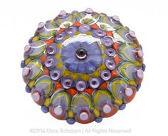 SALSA  handmade lampwork glass cabochon topper by by beadchatter, €135.00