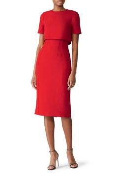 Page 10 of 15 - Dresses for Women - Party, Formal, & Casual Dresses Casual Dresses, Dresses For Work, Bride Dresses, Work Outfits, Professional Dress For Women, Dress The Population, Jason Wu, Elegant Outfit, Sheath Dress