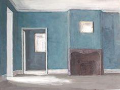 Open door, Getty house at Wormsley, 2010, oil on wood, Pierre Bergian.