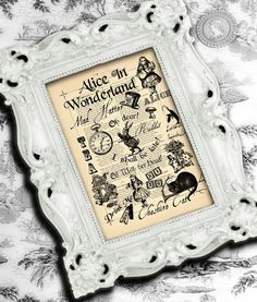 Childs Room Alice in Wonderland Nursery Decor by BiloxiHousewife, $10.00