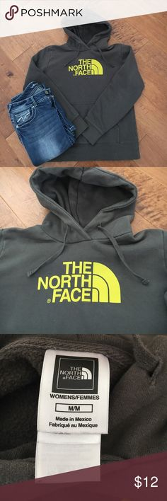 North Face Sweatshirt Hooded sweatshirt. Taupe gray color. Worn but still in good condition. See photos. North Face Tops Sweatshirts & Hoodies