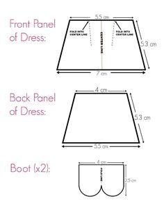 Primose Crochet Dolls Dress & Boots Template